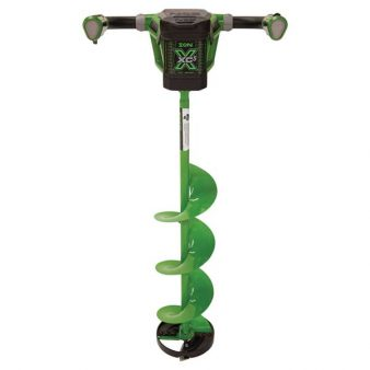 8in ion x electric ice auger for ice fishing