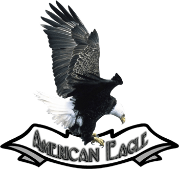 Ice Castle Fish House American Eagle RV Logo
