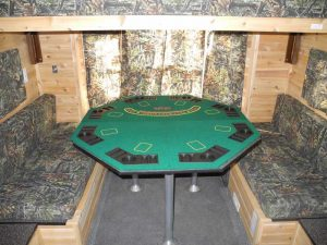 the poker table for the gambler ice castle fish house