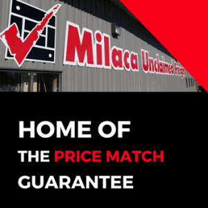 Milaca Unclaimed Freight is home of the price match guarantee