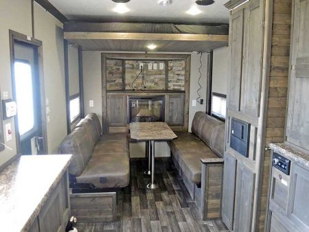 Wide Shot of Kitchen Seating in Black Knight Ice Castle Fish House