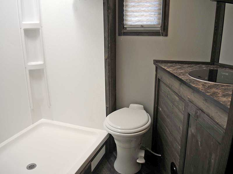 Black Knight Ice Castle Fish House Bathroom Interior