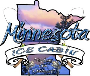 Ice Castle Fish House Minnesota Ice Cabin Logo