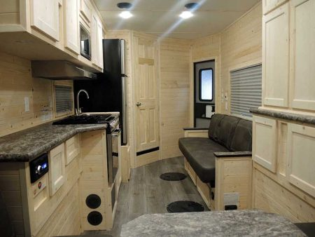 Full Interior With White Oak of America Ice Castle Fish House Interior