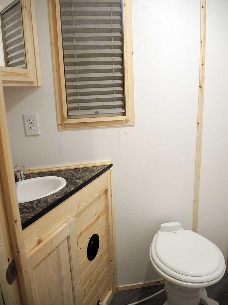 Bathroom Interior With White Oak of America Ice Castle Fish House