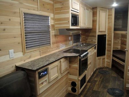 Kitchen and Bunk Bed Interior of Ice Castle Fish House
