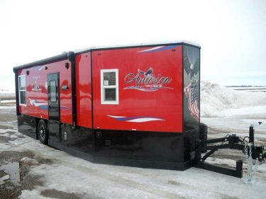Side Shot of America Ice Castle Fish House RV Exterior