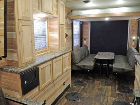 Ghost Rider Toy Hauler Bar and Dining Area - Ice Castle Fish House