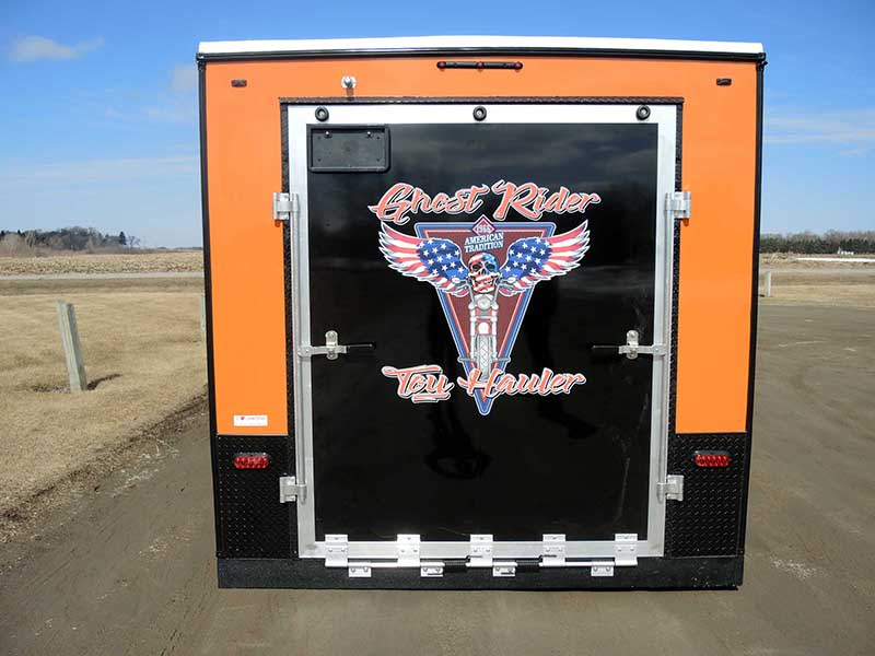 Ghost Rider Toy Hauler Exterior Backend - Ice Castle Fish House